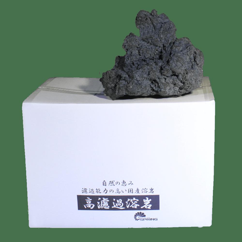 大型溶岩石 L 純黒