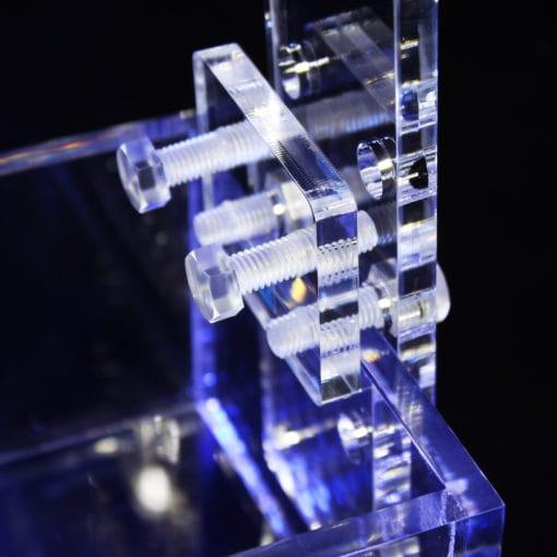 端材工房 ライトスタンド 高さ・厚さ調整可能 直型 スパナ付き