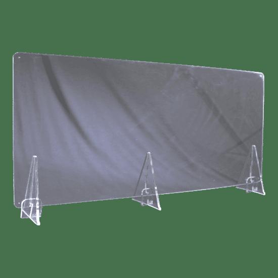 端材工房 卓上仕切り 横置き・横吊り・縦吊り兼用 152x60cm 透明