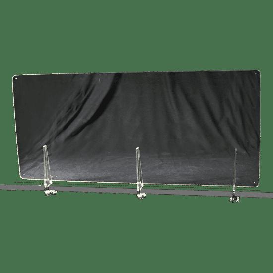 端材工房 卓上仕切り 横置き・横吊り・縦吊り兼用 152x60cm 透明 クランプ式