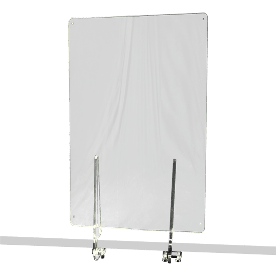 端材工房 卓上仕切り 横・縦置き・吊り兼用 30x60cm 透明 クランプ式
