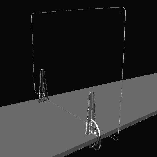 端材工房 卓上仕切りいの足 側面用クランプ 2個セット