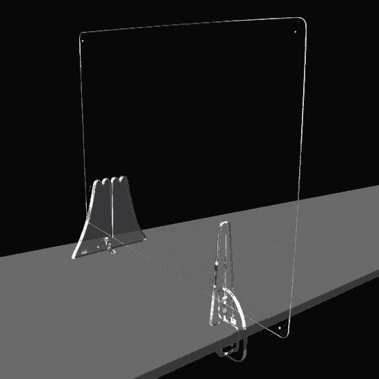 端材工房 卓上仕切りいの足 側面用クランプ+富士山