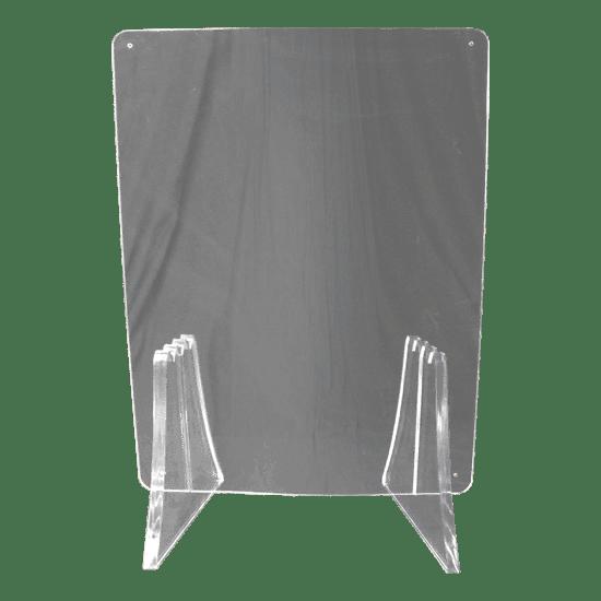 端材工房 卓上仕切り 横・縦置き・吊り兼用 30x60cm 透明 富士山の形をした足