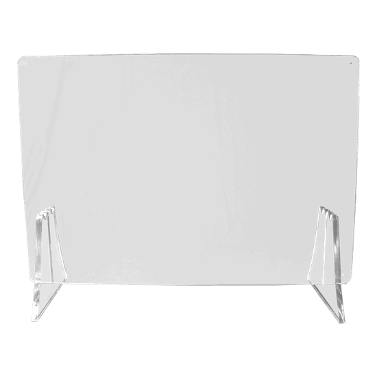 端材工房 卓上仕切り 横・縦置き・吊り兼用 87x60cm 透明 富士山足