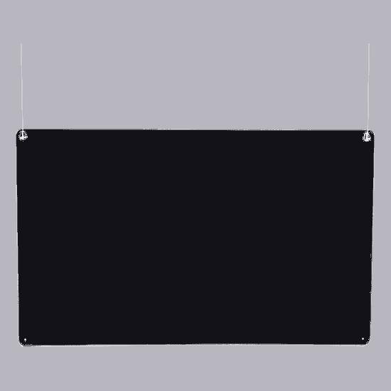 端材工房 卓上仕切り 横・縦置き・吊り兼用 110x68cm 透明 吊り下げ具付