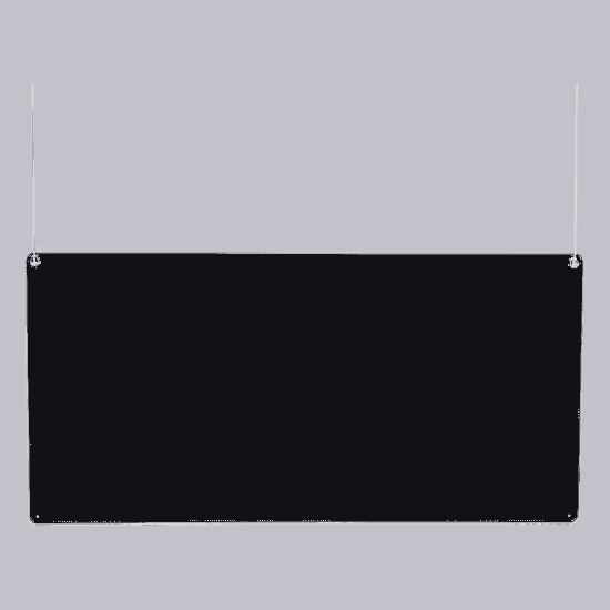 端材工房 卓上仕切り 横・縦置き・吊り兼用 152x60cm 透明 吊り下げ具付