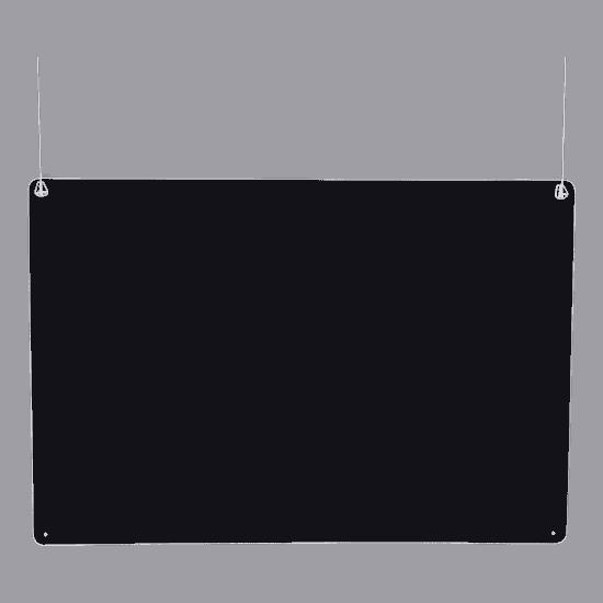 端材工房 卓上仕切り 横・縦置き・吊り兼用 88x60cm 透明 吊り下げ具付