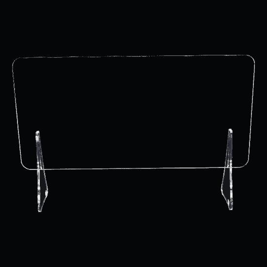端材工房 卓上仕切り 軽量版 足のみ H10cm 透明