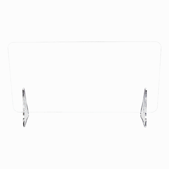 端材工房 卓上仕切り 軽量版 足のみ H4.5cm 透明