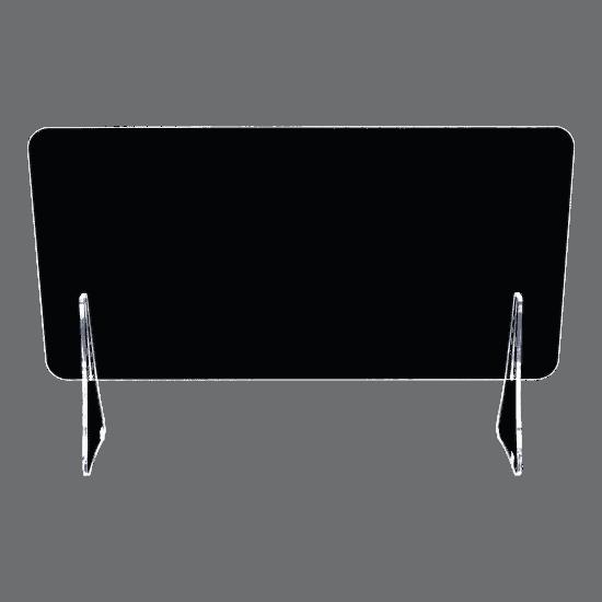 端材工房 卓上仕切り 軽量版 60x30cm 透明 横置き 下部隙間H10cm