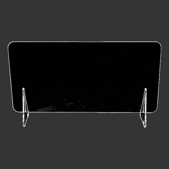 端材工房 卓上仕切り 軽量版 60x30cm 透明 横置き 下部隙間H4.5cm