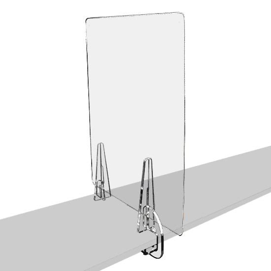 端材工房 卓上仕切り 側面用 横・縦置き・吊り兼用 30x60cm 透明 クランプ