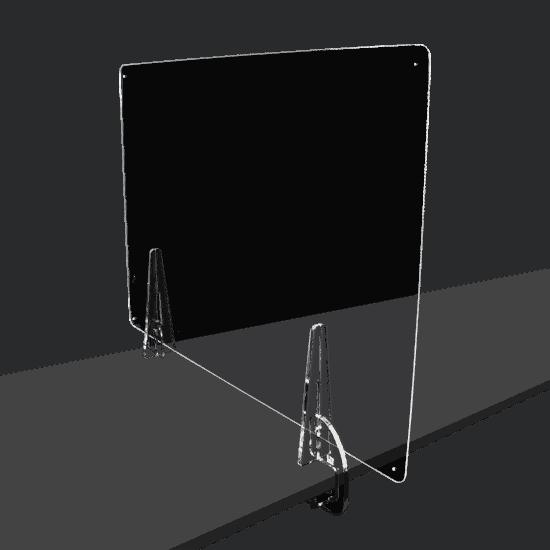 端材工房 卓上仕切り 側面用 横・縦置き・吊り兼用 87x60cm 透明 クランプ