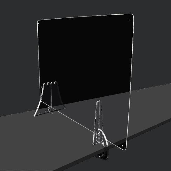 端材工房 卓上仕切り 側面用 横・縦置き・吊り兼用 87x60cm 透明 クランプ+富士山