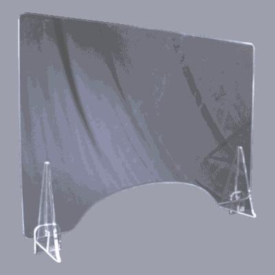 端材工房 卓上仕切り 窓付き 横置き 87x60cm 透明