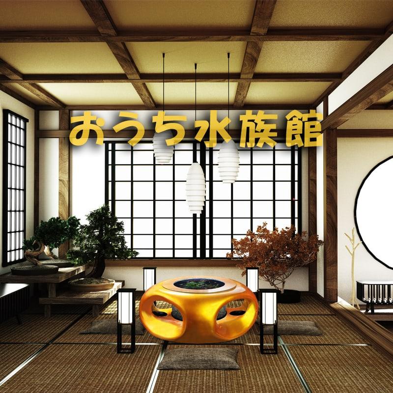 おうち水族館 宙テーブル UFO95 スターリーゴールド 淡水飼育セット