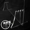 端材工房 卓上仕切り 横置き・横吊り・縦吊り兼用 110x68cm 透明 富士山の形をした足