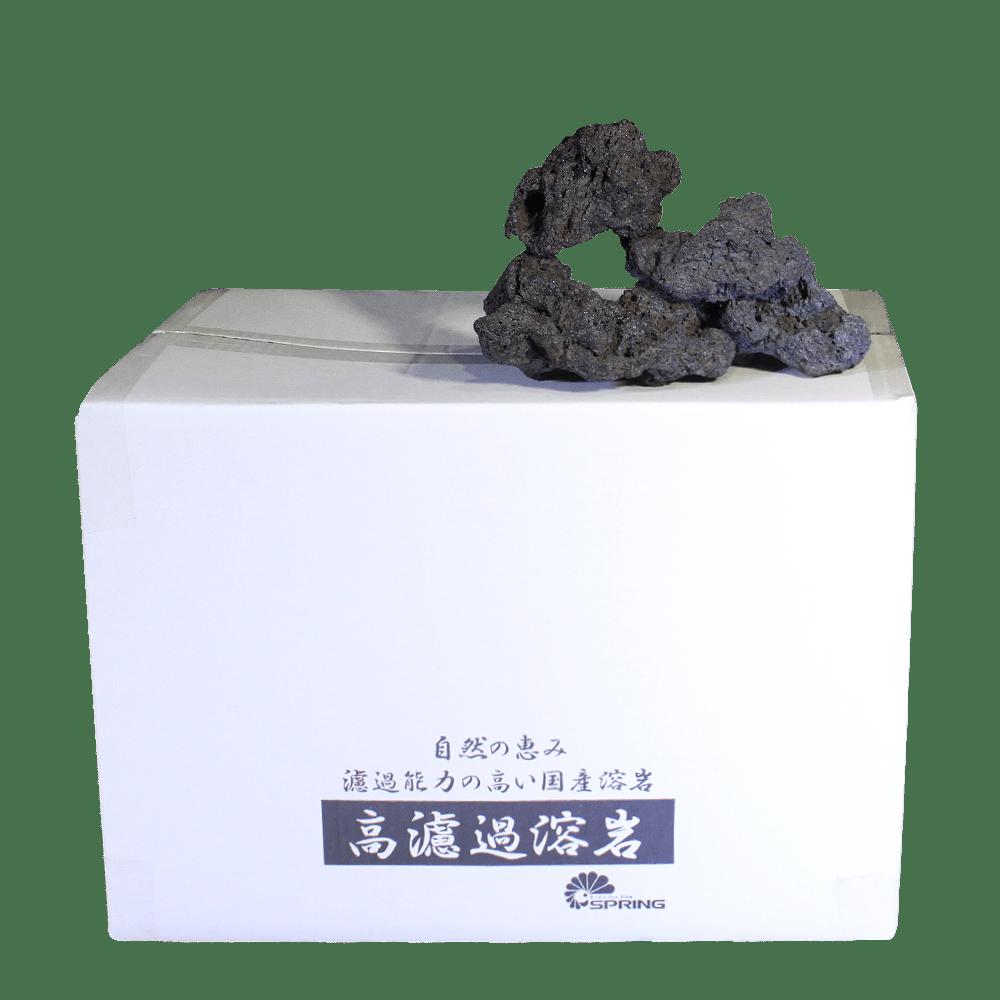 中型溶岩石 M 純黒
