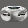 バーズアイ水槽 宙テーブル UFO95 スターリーシルバー 淡水飼育セット
