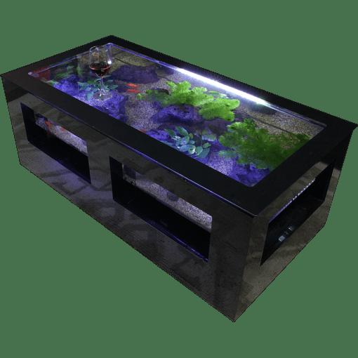 バーズアイ水槽 湧テーブル レクタングラ120黒
